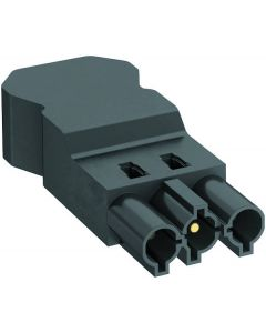 OBO ST-S4 GST18i3 SW male connector 3 pins screw connection PA black 6108060